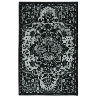 Emiko Black 3 ft. x 5 ft. Ornamental Area Rug