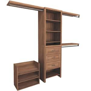 Impressions Premium 60 in. W - 120 in. W Walnut Wood Closet System