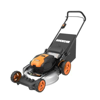 Power Share 20 in. 40-Volt Li-ION Battery 5.0Ah Walk Behind Push Mower w/Mulching and Side Discharge (Tool Only)
