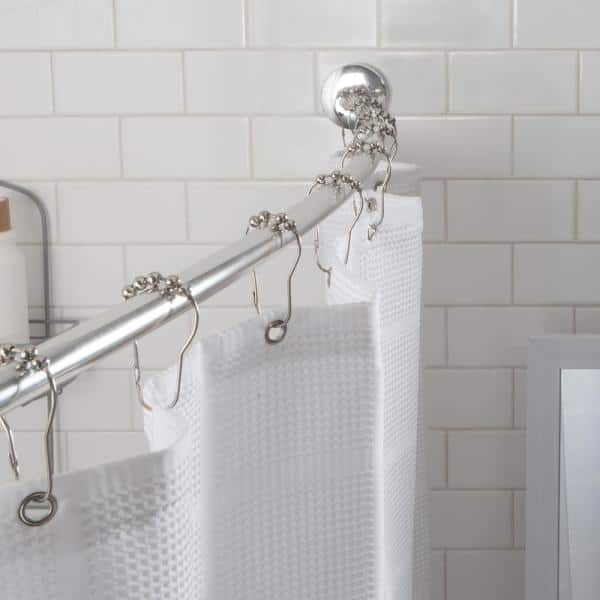 60 In Suction Cup Mount Curved Shower