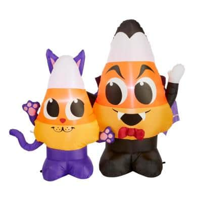 4 ft. Candy Corn Duo Airblown Halloween Inflatable Scene