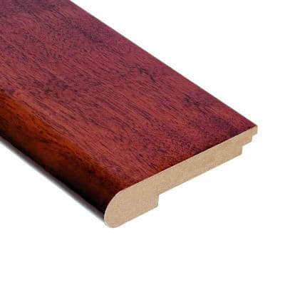 High Gloss Santos Mahogany 1/2 in. Thick x 3-1/2 in. Width x 78 in. Length Stair Nose Molding
