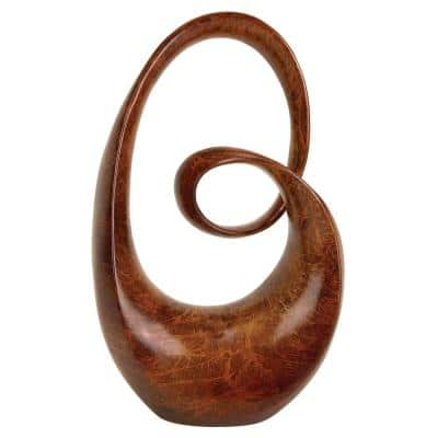Brown Polystone Contemporary Abstract Sculpture