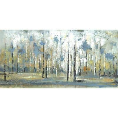24 in. H x 48 in. W Sky Branches Canvas Wall Art Print Large Abstract Wall Decor Painting Picture