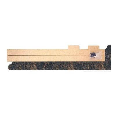 4-5/8 in. x 25-5/8 in. Laminate Endcap Kit in Spicewood Springs with Full Wrap Ogee Edge