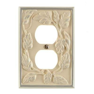 White 2-Gang 1-Duplex/ 1-Single Wall Plate (1-Pack)