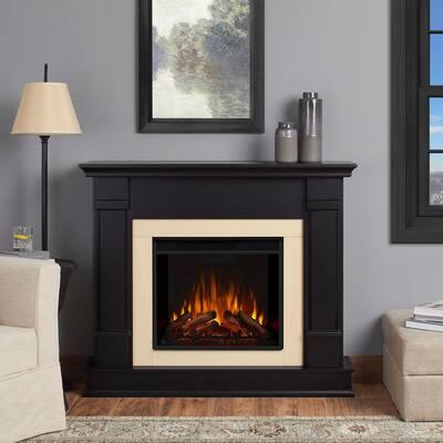 Silverton 48 in. Electric Fireplace in Black
