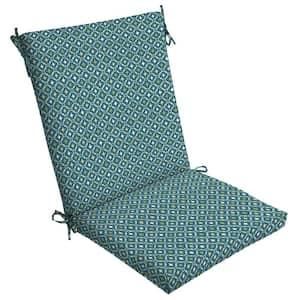 20 x 44 Alana Tile High Back Outdoor Dining Chair Cushion