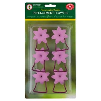 Replacement Pink Petunia Flower Feeding Ports and Perches
