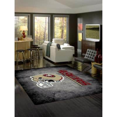 SAN FRANCISCO 49ERS 6 ft. X 8 ft. DISTRESSED RUG