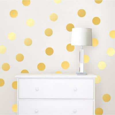 Gold Confetti Dots Wall Decal Set