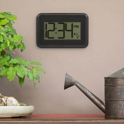 Digital Wall Clock with Temperature & Countdown Timer
