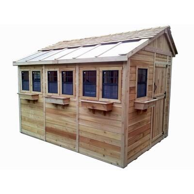 Sunshed 8 ft. x 12 ft. Western Red Cedar Garden Shed
