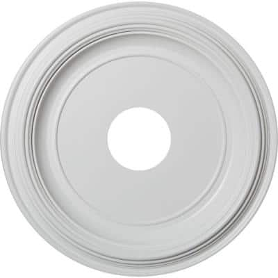 """1-3/8 in. P X 16 in. OD X 3-1/2 in. ID Traditional Thermoformed PVC Ceiling Medallion (Fits Canopies up to 9 1/2"""")"""