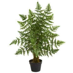 Indoor 3 ft. Ruffle Fern Artificial Palm Tree