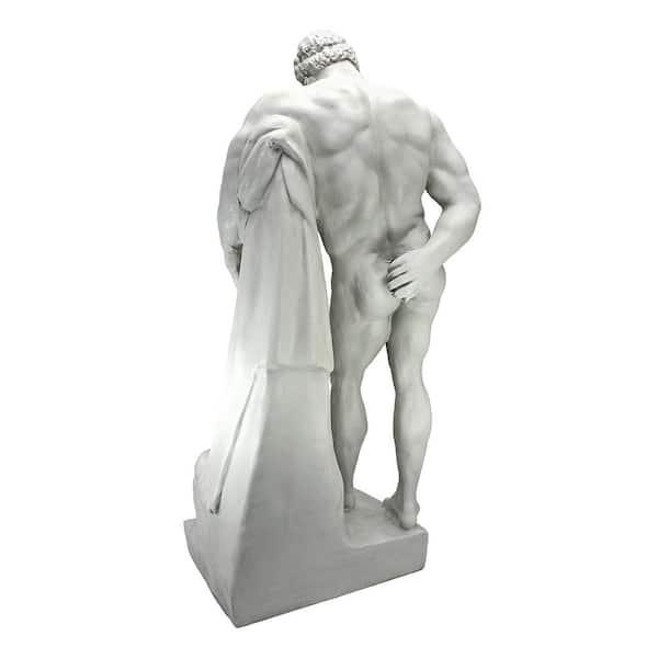 Bonded Marble... 25.5 cm Design Toscano Farnese Hercules Roman God Statue