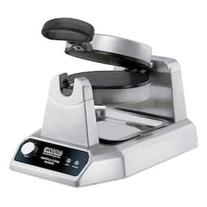 Silver 120-Volt, 1200 Watts Heavy-Duty Waffle Cone Maker