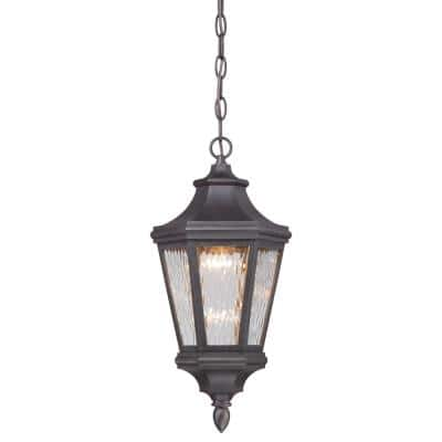 Hanford Pointe Oil-Rubbed Bronze Outdoor LED Chain Hung Lantern