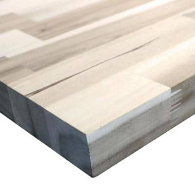 Unfinished Acacia 10 ft. L x 25 in. D x 1.5 in. T Butcher Block Countertop