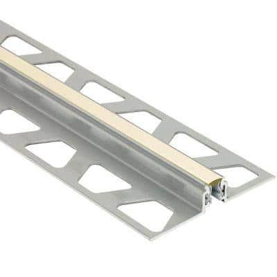 Dilex-AKWS Aluminum with Sand Pebble Insert 7/16 in. x 8 ft. 2-1/2 in. PVC and Metal Movement Joint Tile Edging Trim