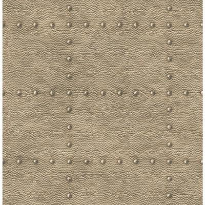 Goldberg Brown Hammered Metal Paper Strippable Roll (Covers 56.4 sq. ft.)