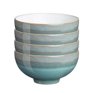 Azure 5 in. 4-Piece Turquoise Coast Rice Bowl Set