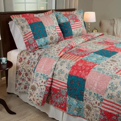 Mallory 2-Piece Red Twin Quilt Set