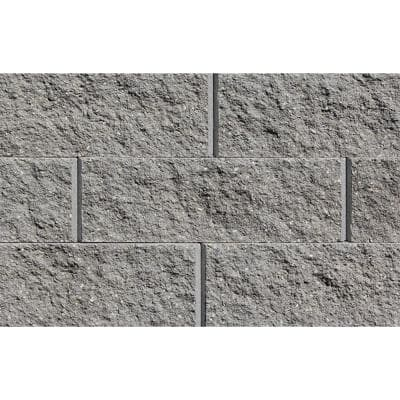 Mini 3 in. H x 8 in. W x 9 in D Gray Concrete Wall Cap (104 Pieces/69 Linear ft. /Pallet)