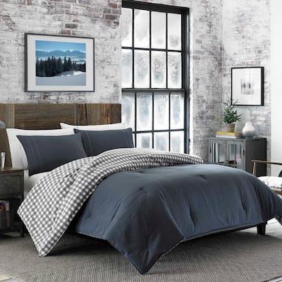 Kingston Plaid Reversible Cotton Comforter Set