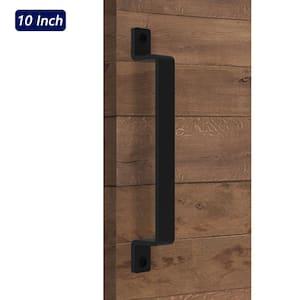 10 in. Black Steel Sliding Barn Door Handle