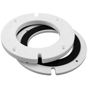 6-13/16 in. x 1/4 in. x 1/2 in. H Complete Plastic Closet Flange Extension Kit with Gasket Less Bolts
