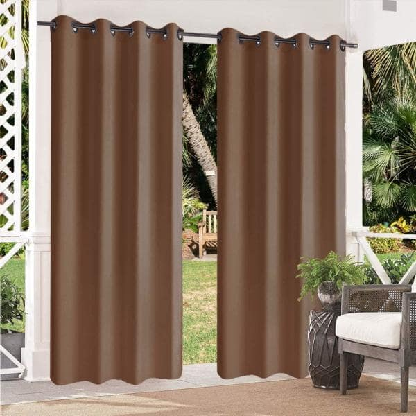 Pro Space Tan Abstract Blackout Curtain, Tan And Brown Curtains