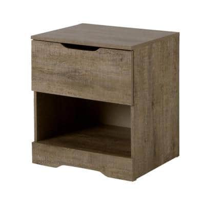 Holland 1-Drawer Nightstand in Weathered Oak