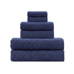 Gracious  6-Pieces Navy  Turkish Cotton Towel Set