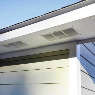 16 in. x 8 in. Aluminum Under Eave Soffit Vent in White (Carton of 36)