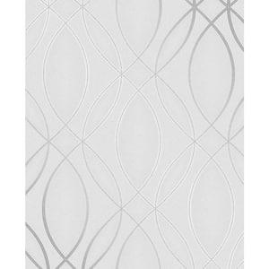 Lisandro Light Grey Geometric Lattice Vinyl Peelable Wallpaper (Covers 56.4 sq. ft.)