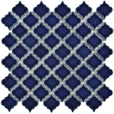 Hudson Tangier Smoky Blue 12 in. x 12 in. Porcelain Mosaic Tile (10.96 sq. ft. / Case)