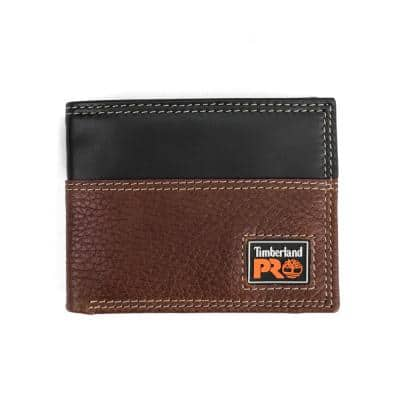 Teak Men's Slim Leather RFID Wallet