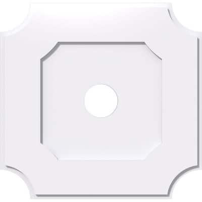 1 in. P X 21-1/2 in. C X 36 in. OD X 6 in. ID Locke Architectural Grade PVC Contemporary Ceiling Medallion