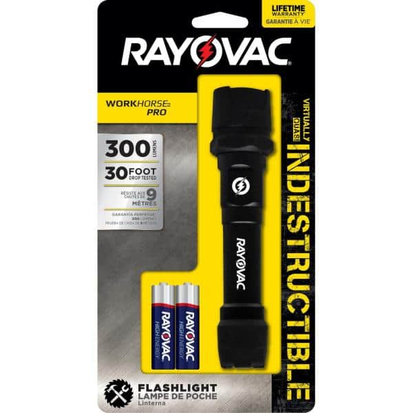 Rayovac Virtually Indestructible LED Flashlight 600 Lumens Tactical Flashlight