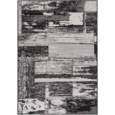 Fenella Black 8 ft. x 10 ft. Indoor/Outdoor Area Rug