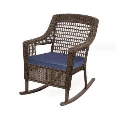 Spring Haven 19 x 19 Outdoor Rocking Chair Replacement Cushion in Midnight Blue