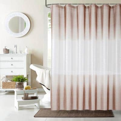 Mist 70 in. x 72 in. Liner Taupe 3D Eco-Friendly Shower Curtain