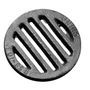 4-7/8 in. O.D. Cast Iron Bar Grate Less Legs for Hub Openings in 4 in. Soil Pipe