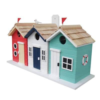 Brighton Beach Huts Outdoor Wooden Decorative Hanging Box Birdhouse