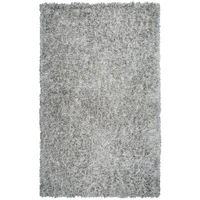 Urban Dazzle Light Gray 7 ft. 6 in. x 9 ft. 6 in. Solid/Gradient Area Rug
