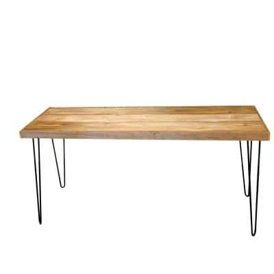 Colt Reclaimed 58 in. L Rectangle Natural Wood 17.5 in. D Writing Desk with Metal Legs