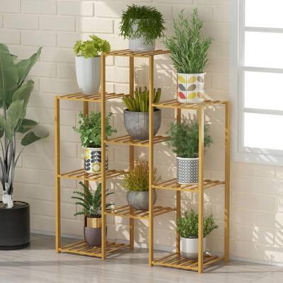 Bamboo 6-Tier Shelf Flower Pot Plant Stand Wooden Rack Garden Indoor Outdoor Balcony Living Room