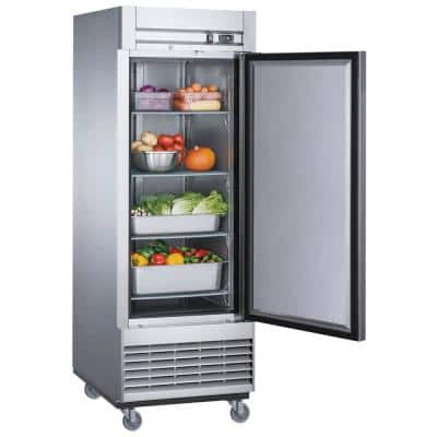 17.7 cu. ft. Commercial Upright Reach-in Refrigerator in Stainless Steel