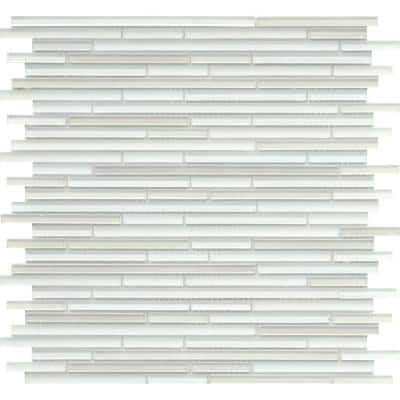 Infinity White Glossy 11.73 in. x 11.73 in. x 4mm Glass Mesh-Mounted Mosaic Tile (0.96 sq. ft.)